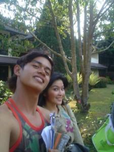 Udeh Nans bersama Sandra Dewi Bandung 225x300 Nyaris Tidak Bergabung Bersama The Raid
